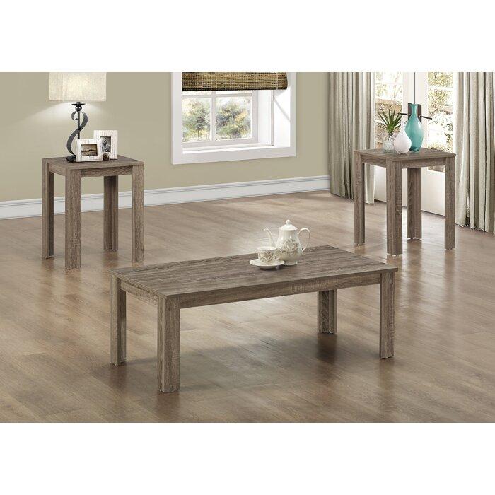 3 Piece Coffee Table Set - Monarch Specialties Inc. 3 Piece Coffee Table Set & Reviews Wayfair