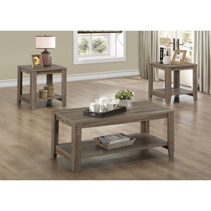 Jalen 3 Piece Coffee Table Set - Loon Peak Jalen 3 Piece Coffee Table Set & Reviews Wayfair