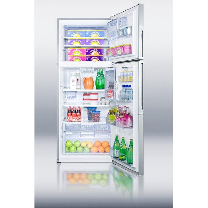 summit appliance 18 1 cu ft counter depth top freezer refrigerator reviews wayfair. Black Bedroom Furniture Sets. Home Design Ideas