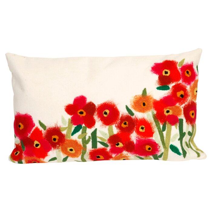 kaylee poppies outdoor lumbar pillow