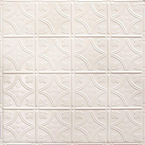 American Tin Ceilings 24 X 24 Metal Backsplash Panel Kit In Creamy White Satin Reviews Wayfair
