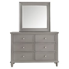Isabella 6 Drawer Dresser with Mirror by Darby Home Co