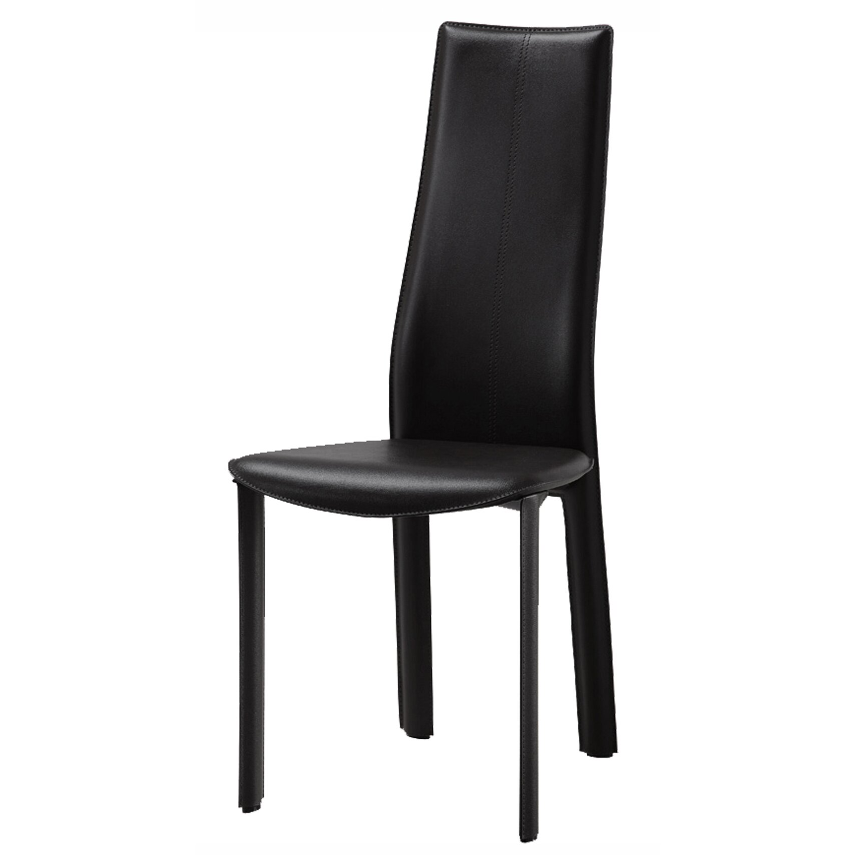 Black upholstered dining chairs - Allison Genuine Leather Upholstered Dining Chair