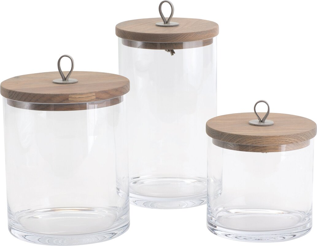Glass kitchen canisters - Black Kitchen Canister Set Glass Kitchen Canisters Jars You Ll Love Wayfair