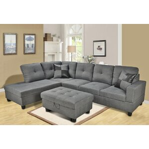 faux leather sectional sofas youll love wayfair. Interior Design Ideas. Home Design Ideas