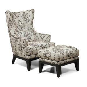 Baltic Wingback Chair and Ottoman by Darby Home Co