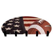 USA Football 5 Hook Coat Rack by Next Innovations