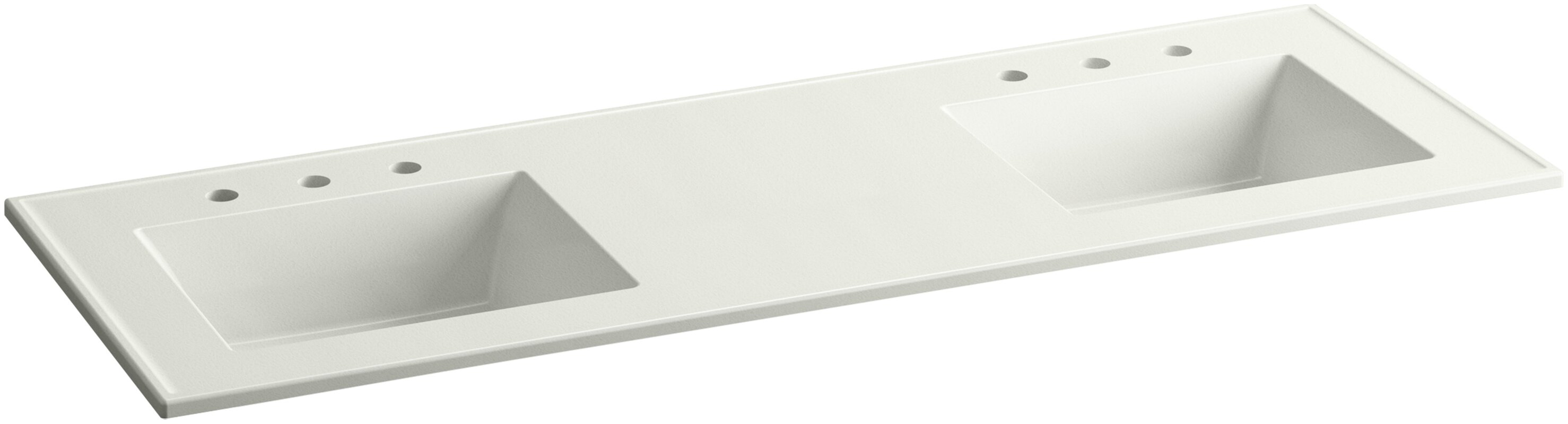 Bathroom vanity tops with sink - Ceramic Impressions 61 Double Bathroom Vanity Top