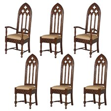 6 Piece Viollet-le-Duc Gothic Cathedral Chair Set by Design Toscano