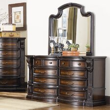 New Hampshire 10 Drawer Dresser and Mirror by Sage Avenue