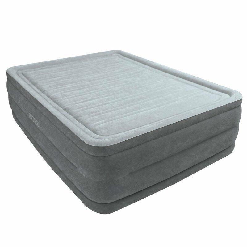 "intex comfort plush 22"" air mattress & reviews   wayfair"