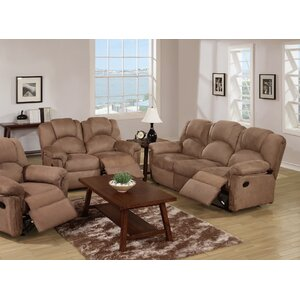 Reclining Sofa and Loveseat Set by Infini Furnishings