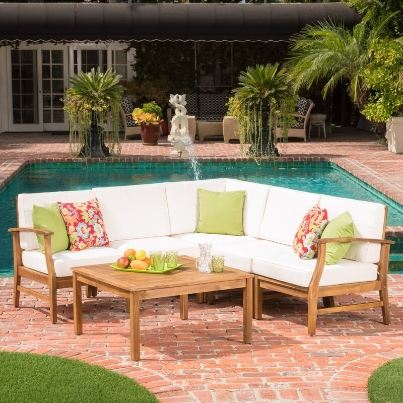 Find The Best Wood Patio Conversation Sets | Wayfair