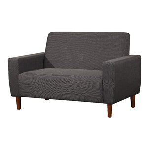 Mid Century Linen Loveseat by Container