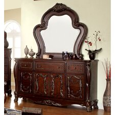 Lancaster 7 Drawer Combo Dresser with Mirror by Hokku Designs