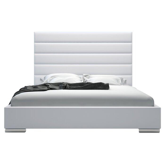 prince upholstered platform bed & reviews   allmodern