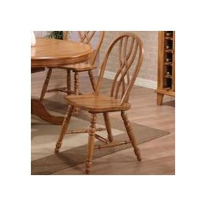 Rustic Oak Solid Wood Dining Chair (Set of 2) ECI Furniture