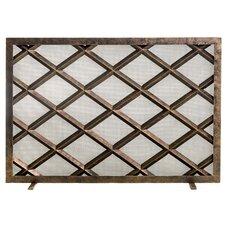 Fedora Single Panel Steel Fireplace Screen by Ornamental Designs