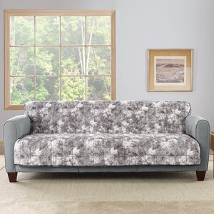 Faux Fur Quilted Loveseat Slipcover by Sure Fit