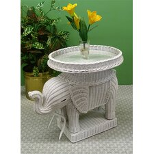 Elephant End Table by Wicker Warehouse