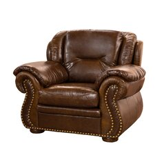 Wyatt Top Grain Leather Club Chair by Fornirama
