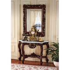 Royal Baroque Console Table and Mirror Set by Design Toscano