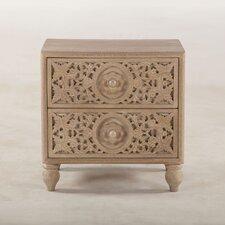 Haveli 2 Drawer Nightstand by World Interiors
