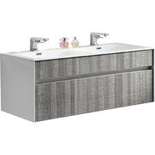 """Eaton 48"""" Double Sink Modern Bathroom Vanity Set"""