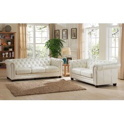Amax Nashville Leather Sofa and Loveseat Set Reviews Wayfair