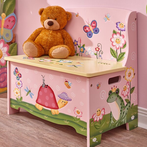 Magic Garden Wooden Toy Storage Bench