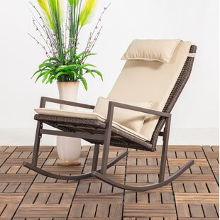 Tremberth Outdoor Rocking Chair with Cushion