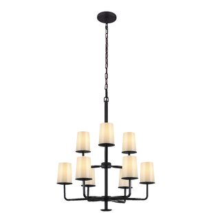 Feiss Huntley 9-Light Shaded Chandelier