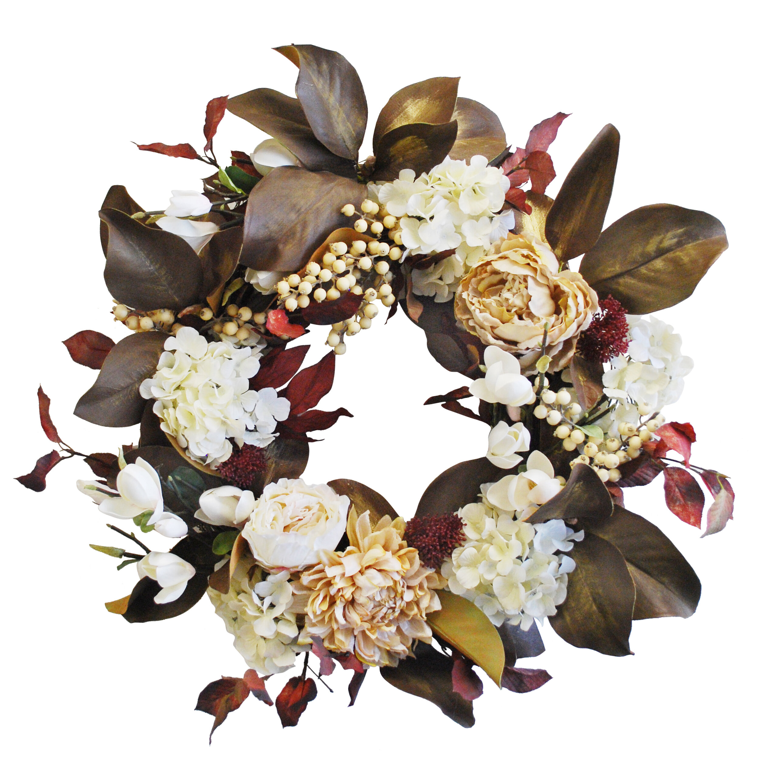 Gracie Oaks Mixed Autumn Flower Wreath Wayfair