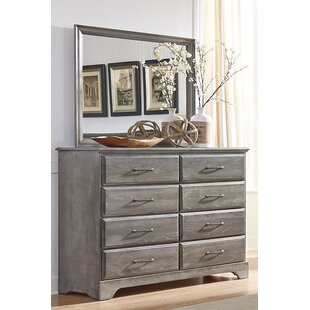 Ciara 8 Drawer Double Dresser with Mirror