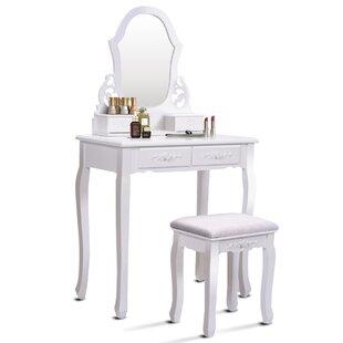 Enrico Vanity Set with Mirror ByHouse of Hampton