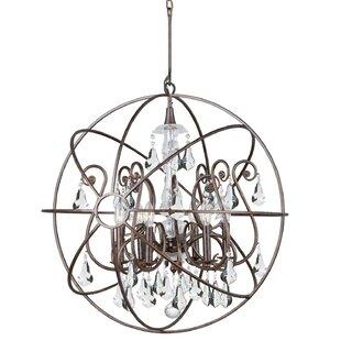 Rosdorf Park Charleston 6-Light Globe Chandelier