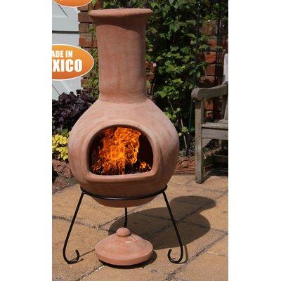 "Fleur De Lis Living Skoog Clay Wood Burning Chiminea  Size: 49.21"" H x 21.65"" W x 21.65"" D"