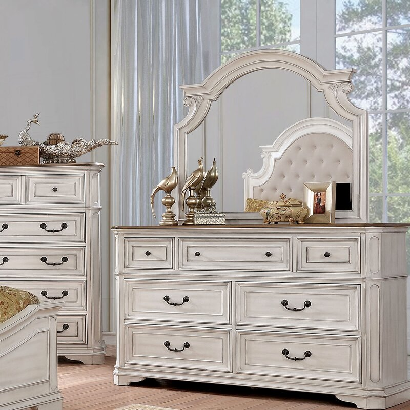 Miah 7 Drawer Double Dresser with Mirror