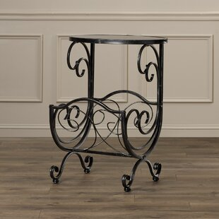 Buying Hayton End Table with Magazine Rack in Gun Metal By Charlton Home