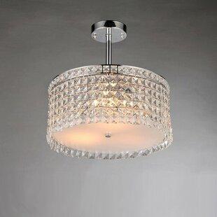 Warehouse of Tiffany Garcia 4-Light Crystal Chandelier