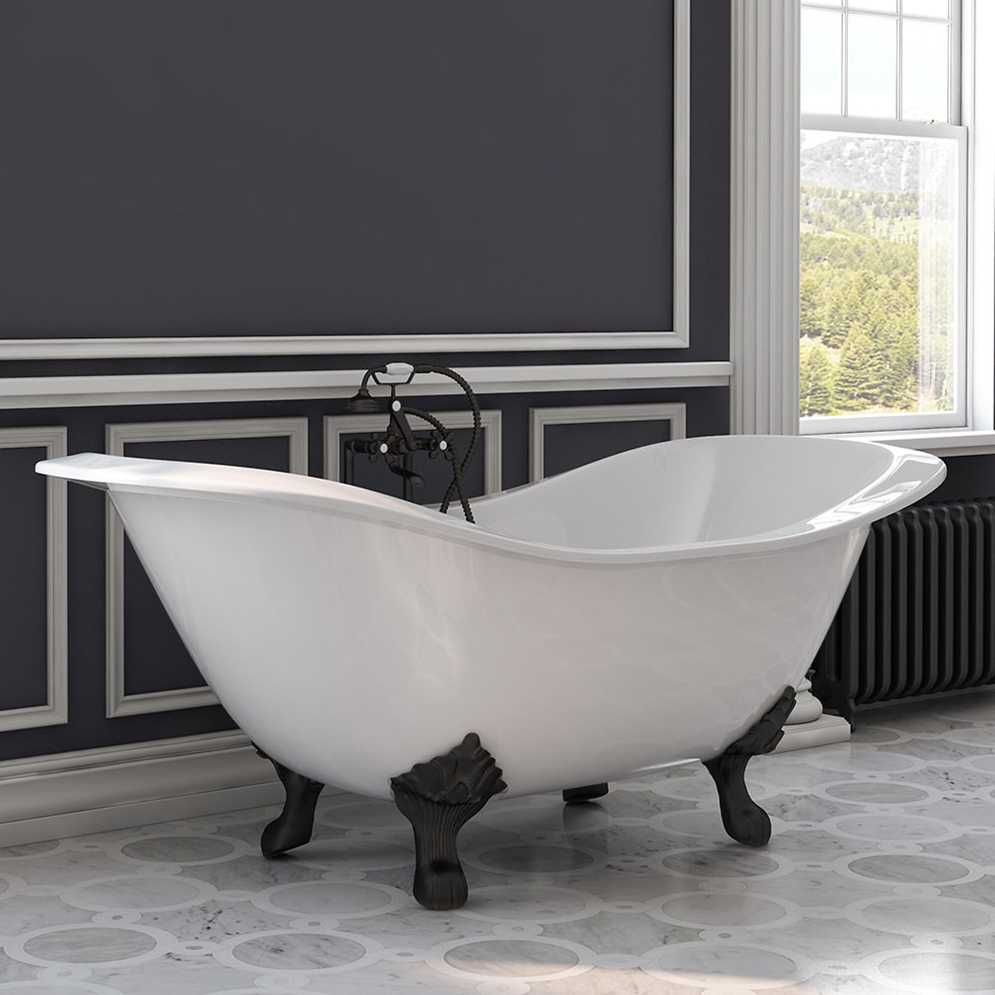 71 X 31 Clawfoot Bathtub
