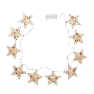 Wooden Star Battery Light Image