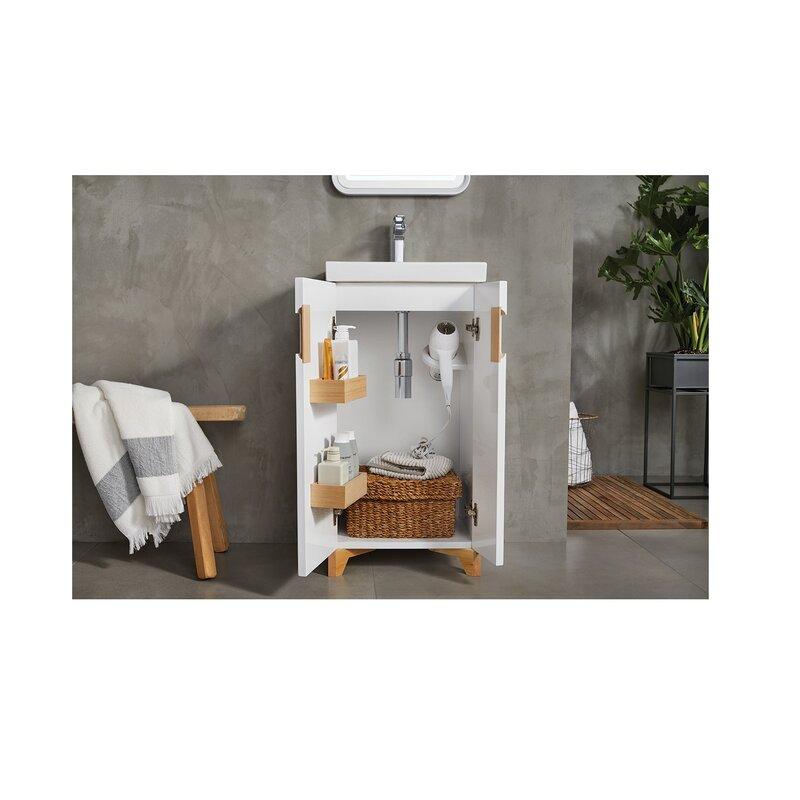 ronbow aravo petite 18 single bathroom vanity set wayfair rh wayfair com petite bathroom vanity cabinet