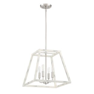 Mickle 4-Light Lantern Chandelier by Char..
