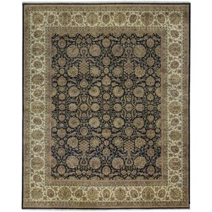 Compare & Buy One-of-a-Kind Mountain King Hand-Knotted 12' x 14'6 Wool Black/Beige Area Rug ByBokara Rug Co., Inc.