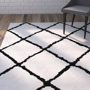 Price comparison Lindsay Hand-Tufted Off-White/Black Area Rug By Brayden Studio