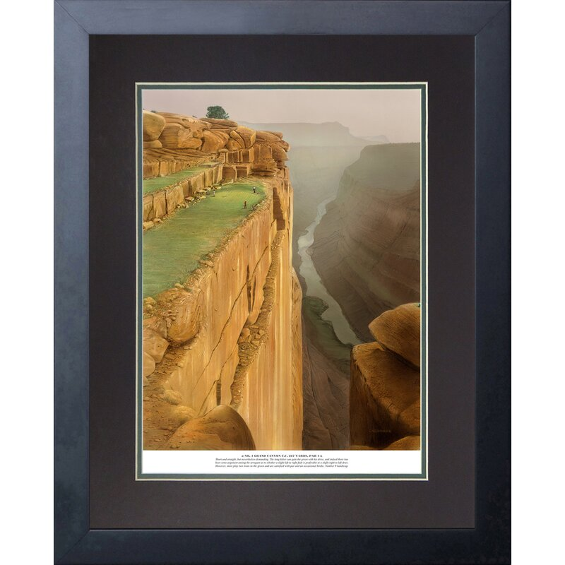 Red Barrel Studio No4 Grand Canyon Country Club Framed Graphic