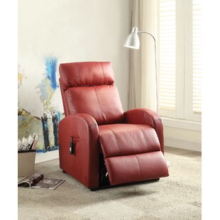 Gables Leather Power Recliner by Latitude Run