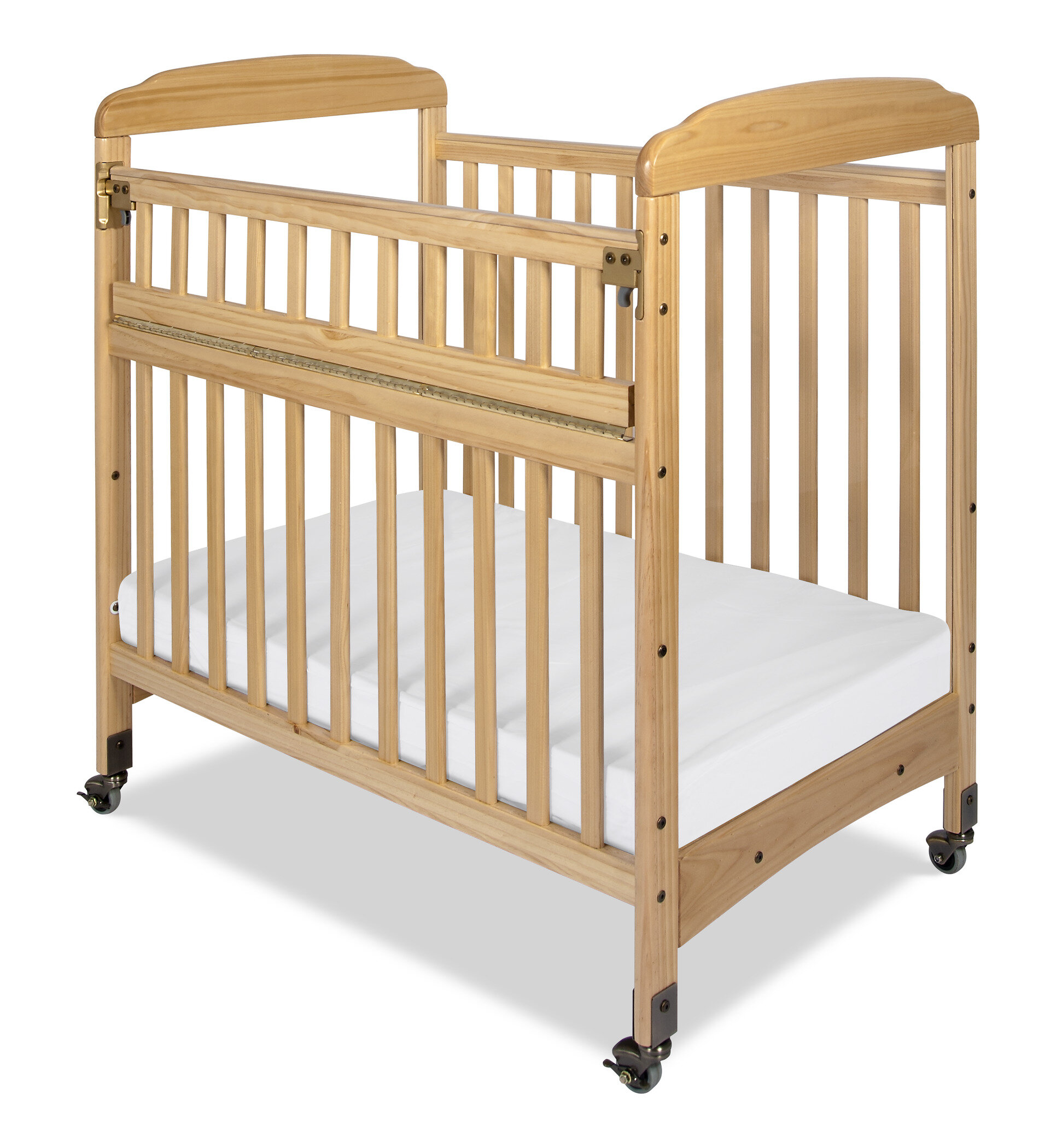Foundations Serenity Safereach Compact Mini Portable Crib With Mattress Reviews Wayfair