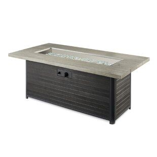 Homelegance Cedar Ridge Concrete Fire Pit Table